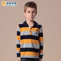 英格里奥童装儿童长袖T恤男大童长袖T恤男童秋季polo衫3506