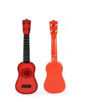 初学者儿童吉他玩具可弹奏男孩宝宝乐器1-3-6岁小孩2男孩儿童宝宝玩具 桔红色\23寸\4弦