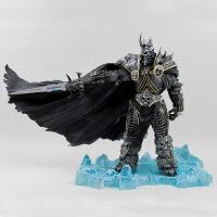 WOW魔兽世界 DC7代 巫妖王-阿尔萨斯 死亡骑士 盒装公仔模型摆件 礼物 阿尔萨斯-高21cm