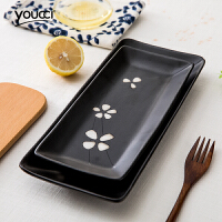 家用餐具寿司盘子陶瓷 创意 长方形甜品盘点心盘