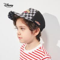 【99元3件:33元】迪士尼童装男童网眼鸭舌帽2021新款儿童汽车总动员梭织卡通帽子