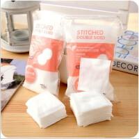 优质纯棉插袋化妆棉 双面压边卸妆棉工具 全棉50片装