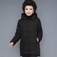 中年妈妈冬装外套羽绒中长款中老年棉衣女加厚秋冬棉袄40岁50