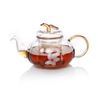 玻璃茶壶 耐热茶具 桐花南瓜如意壶 大容量茶具茶壶 图片色