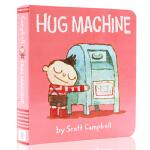 英文原版绘本 Hug Machine 纸板书 图画书 名家Scott Campbell 拥抱的力量 爱抱抱的小机器人
