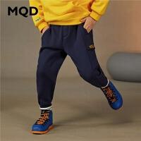 【2件3.5折券后价:129】MQD童装男童针织裤2020冬装新款儿童中大童运动简约百搭长裤裤子