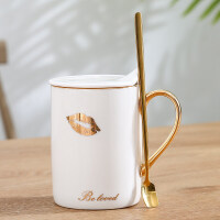 情侣杯子一对创意北欧风陶瓷马克杯简约办公室家用牛奶咖啡杯