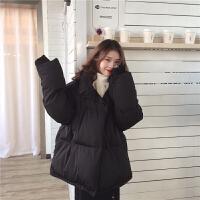 女冬装2018新款韩版宽松bf棉衣外套中长款加厚ins面包服学生 均码