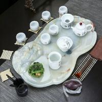 【好店】茶具茶盘套装家用简约 欧式简易创意天然大理石排水防玉石小茶盘
