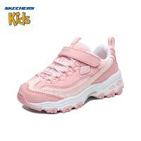 斯凯奇Skechers 女童鞋 时尚经典新款熊猫鞋 魔术贴女童休闲运动鞋664094L 浅粉色/LTPK(8岁―12岁