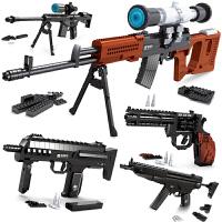 积木枪玩具拼装Ak47儿童拼插男孩子益智力玩具