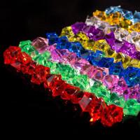 仿真塑料冰块冰粒七彩无孔儿童宝石玩具亚克力碎冰柜台水晶钻石