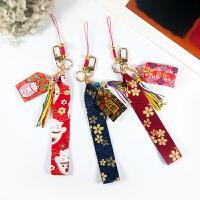 原创手工可爱日系猫短绳手腕绳手机挂绳u盘钥匙挂饰手机挂件