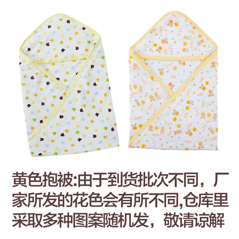 婴儿浴巾薄款4层纱布抱被宝宝印花棉纱布毯浴巾婴儿幼儿春秋季用品