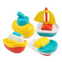 洗澡玩具 戏水漂浮小船水上船套装玩具 4只漂浮船