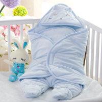 婴儿抱被秋冬婴儿抱被睡袋新生儿包被春秋冬季初生小被子宝宝加厚款wk-70