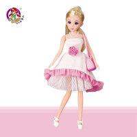 芭芘洋娃娃套装礼盒芭之比洋娃娃公主儿童女孩玩具生日礼物 26厘米