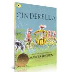 顺丰包邮 Cinderella 灰姑娘 凯迪克金奖绘本 Marcia Brown经典英文原版图画书