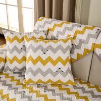 北欧沙发垫布艺防滑坐垫四季简约现代客厅沙发巾套罩组合套装定制定制