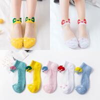 儿童夏季薄款女童纯棉船袜宝宝卡通冰丝袜