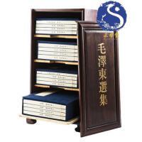 三希堂藏书毛泽东选集4函16册 宣纸线装 双色印刷 繁体大字竖排