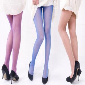 【全店满200减110】浪莎丝袜子女士超薄糖果色炫彩银丝加裆连裤袜长筒袜子彩色丝袜