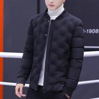 男士外套秋冬季2018新款韩版潮流休闲夹克男装加厚帅气棒球服男
