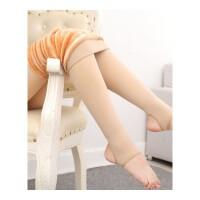 秋冬外穿加绒加厚打底裤女保暖显瘦连袜裤肉黑色踩脚中高腰一体袜 图片色