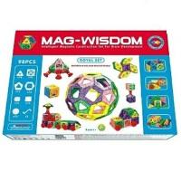 科博MAG-WISDOM魔磁智慧片 磁力片建构片玩具积木 98件