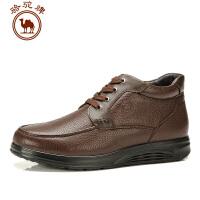 骆驼牌男鞋 新款日常休闲 保暖短筒男靴子流行男鞋