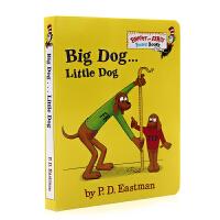 进口英文原版绘本 Big Dog Little Dog 大狗小狗PD Eastman 苏斯博士儿童纸板书系列 绘本