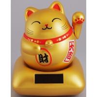 日本太阳能摆件猫可爱摇头娃娃汽车饰品摆件车摆件摇头摆件