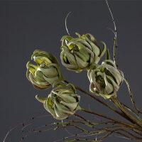 家居饰品仿真花装饰干花绿雪球花插花瓶客厅餐桌茶几整体花艺摆设抖音