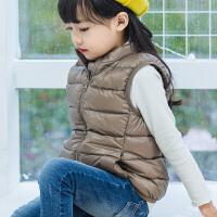 轻薄款羽绒马甲儿童外穿宝宝男童女童中大童立领马夹小童男孩女孩