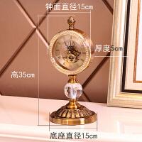 欧式钟表摆件客厅北欧家居摆设时钟摆钟桌面摆台式水晶座钟装饰品 座钟