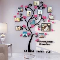 办公室墙壁照片树 3D亚克力立体墙贴客厅沙发卧室温馨婚庆照片树贴纸创意家居装饰画A 特