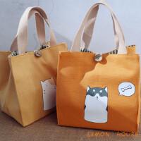 黎�卡日式和�L可�埏�盒袋便��包袋小身材大容量女帆布棉麻手提拎包