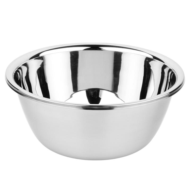 加厚不锈钢盆家用圆形汤盆烘焙打蛋盆厨房小汤盆18CM