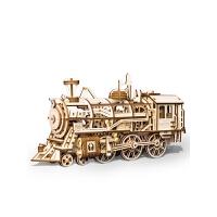 3D立体拼图木质机械传动模型拼装礼物玩具