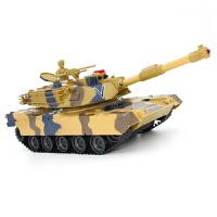 合金遥控坦克模型冒烟超大对战充电动 儿童越野玩具车遥控车 男孩