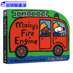 Maisy 小鼠波波系列 英文原版绘本 Maisy's Fire Engine 消防车 交通工具造型纸板书 儿童启蒙