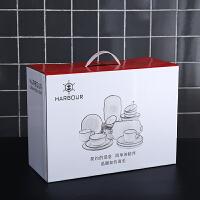 【优选】北欧风格情侣碗筷盘子网红餐具创意碗碟套装家用ins2/4人日式简约 NAVIA系列48件套礼盒装 送10双筷子