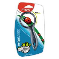 Maped马培德 039100CH 3倍高清放大镜儿童昆虫观察器幼儿园学生用玩具扩大镜直径50mm 颜色随机