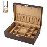 双层皮革PU珠宝首饰盒皮质手表珠宝项链手镯首饰收纳盒收藏盒子