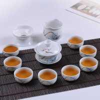 茶具套装功夫陶瓷泡茶器茶壶盖碗茶杯高白瓷特价青花茶具整套家用