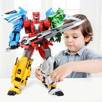 变形玩具金刚5奥特曼恐龙暴龙三角龙机器人男孩儿童