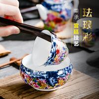 唐丰珐琅彩主人杯白瓷个人杯单个小号功夫茶杯家用茶盏