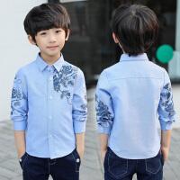 儿童春秋款打底衬衣男孩上衣童装男童秋装新款韩版长袖衬衫