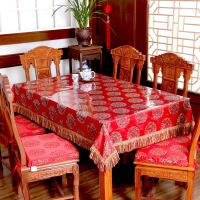 红木织锦缎桌布婚庆台布餐桌布布艺椅垫中式实木hm定制