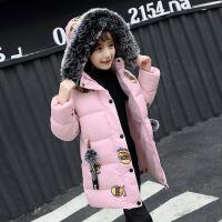 女童装外套秋冬2018新款 韩版 洋气宝宝中大童加厚小棉衣羽绒服